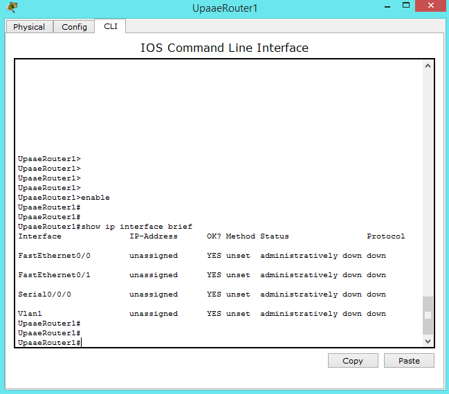 config interface 1