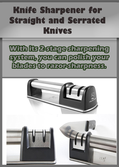 Knife Sharpner for serrated and straight knives. Kitchen Tools and Kitchen Equipment