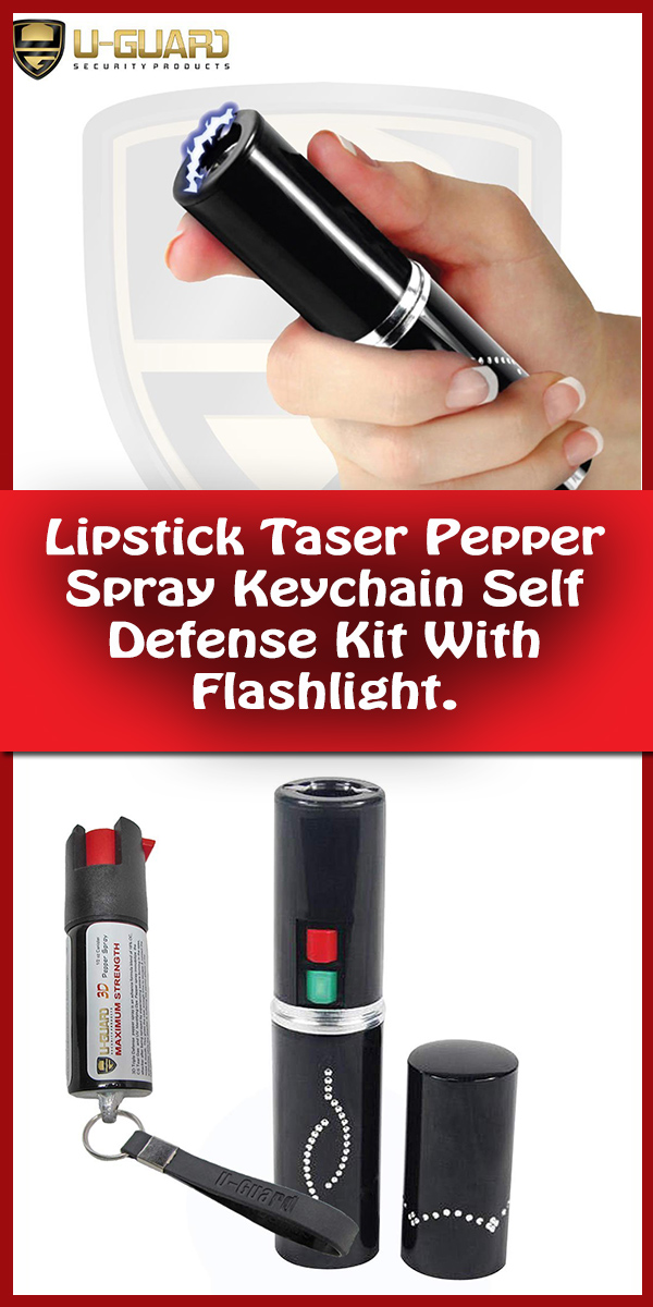 Personal security tools,Lipstick Taser Pepper Spray Keychain Self Defense Kit With Flashlight