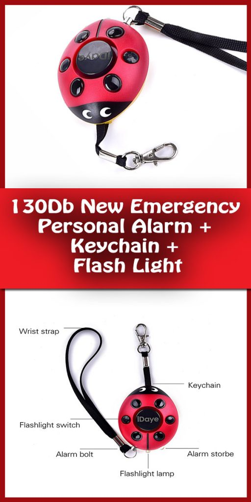 New Emergency 130db Personal Alarm Keychain-the Wolf Alarm-Elderly-kids Tracker,Safety-Attack-ProtectionSelf Defense Electronic Device