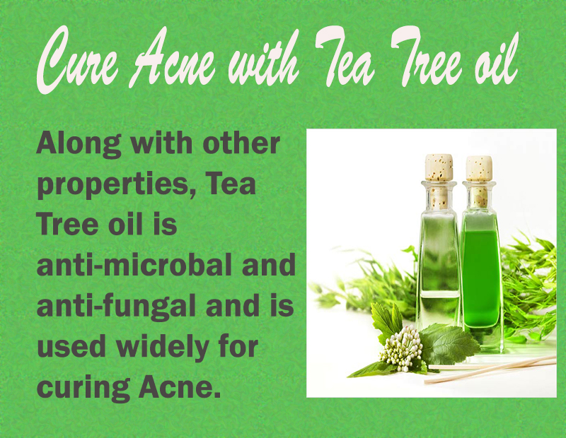 Cure Acne with tea tree oil