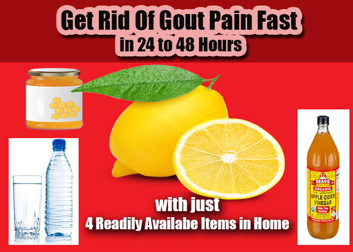 how to get rid of gout pain fast