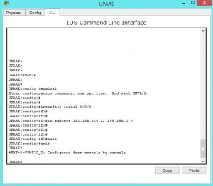 Assigning ip address to serial interface on a Cisco Router