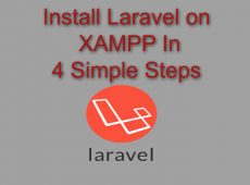 Install Laravel on XAMPP in 4 Simple Steps
