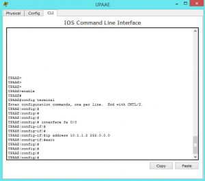 assigning ip address to fast ethernet port on cisco router