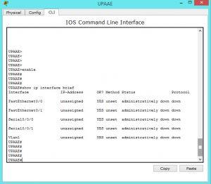 checking cisco router interfaces