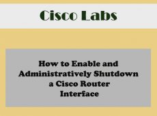 How to Configure Cisco Enable Secret password (Cisco CCNA Labs using