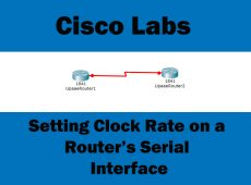 setting clock rate on router's serial interface