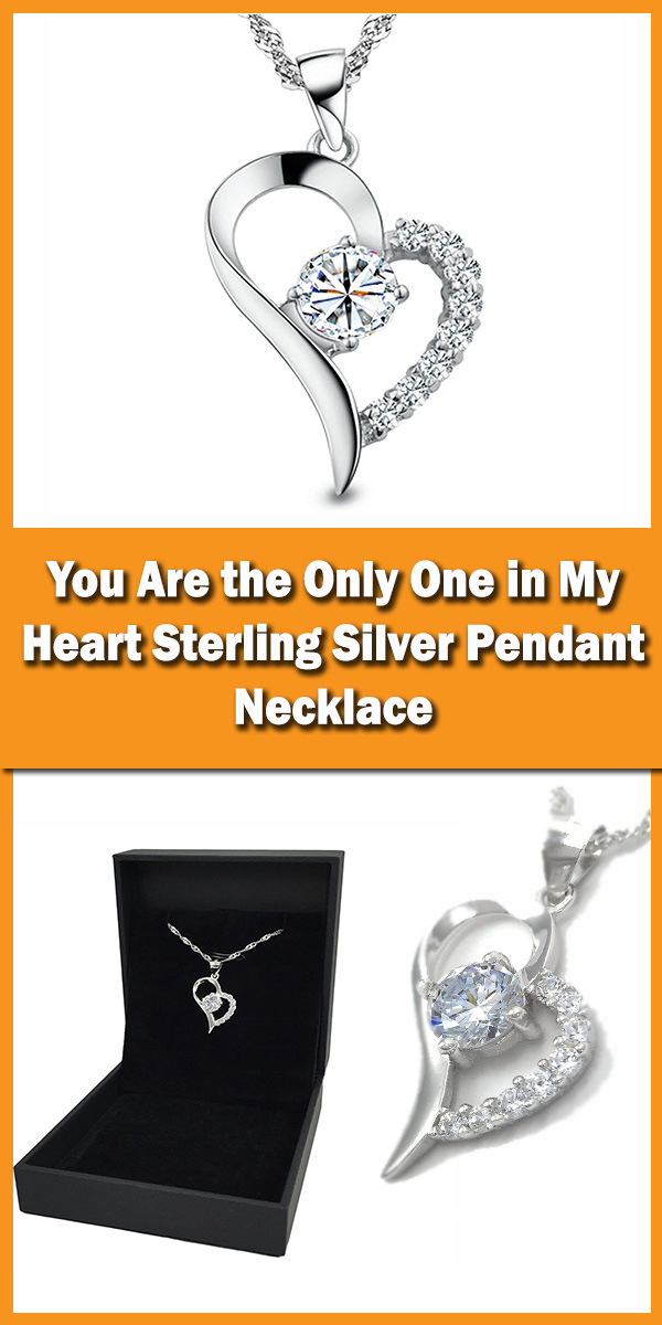 Pearl of Dream--You Are the Only One in My Heart Sterling Silver Pendant Necklace