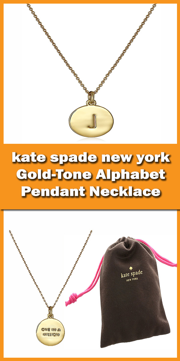 kate spade new york Gold-Tone Alphabet Pendant Necklace, 18inch