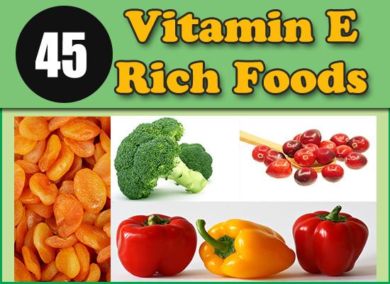 45 Vitamin E rich foods