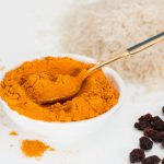 Vitamin E in turmeric grounded