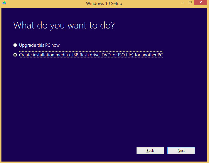How to create windows 10 installation media using media creation tool2