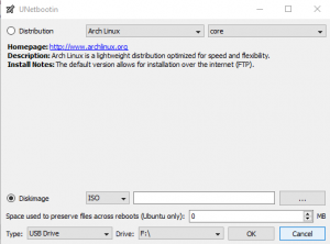create windows 10 installation media using UNetbootIn