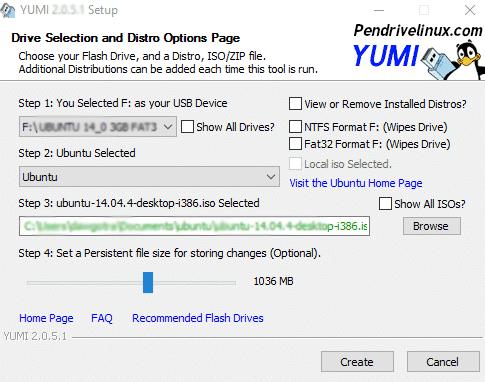 create windows install usb with YUMI