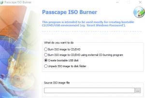 create windows 10 installation media using Passcape ISO Burner pib