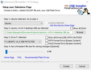 create windows 10 installation media using universal-USB