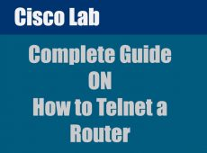 Telnet a cisco router