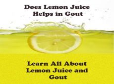 all about lemon juice and gout
