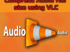 Compress audio file in vlc