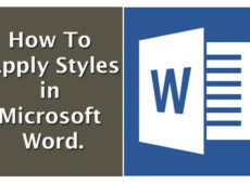 How to apply styles in Microsoft word