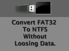 Two Easy methods to convert FAT or Fat32 to NTFS without loosing data